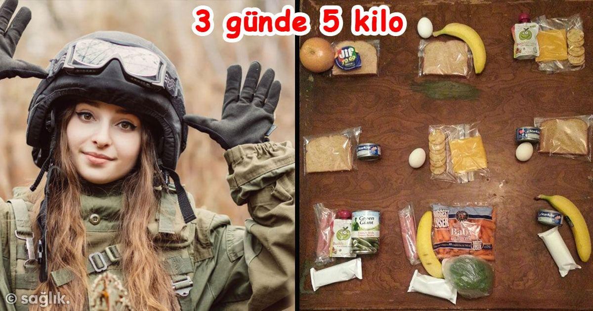 Asker Diyeti ile 3 günde 5 Kilo Verebilirsiniz