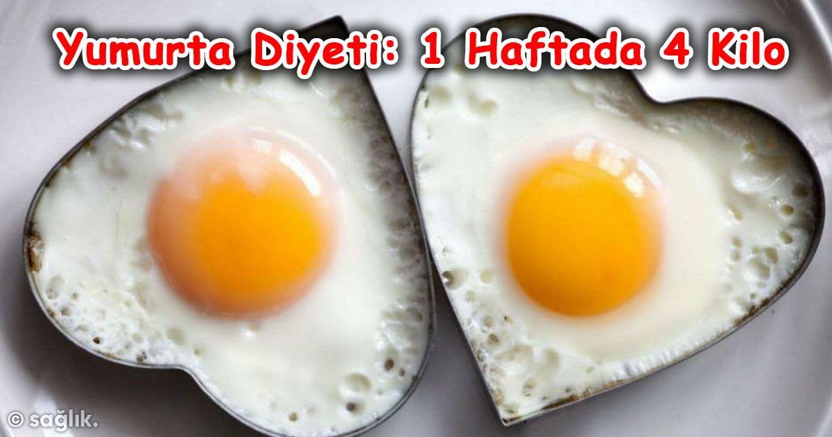 Yumurta Diyetiyle 1 Haftada 4 Kilo Verin