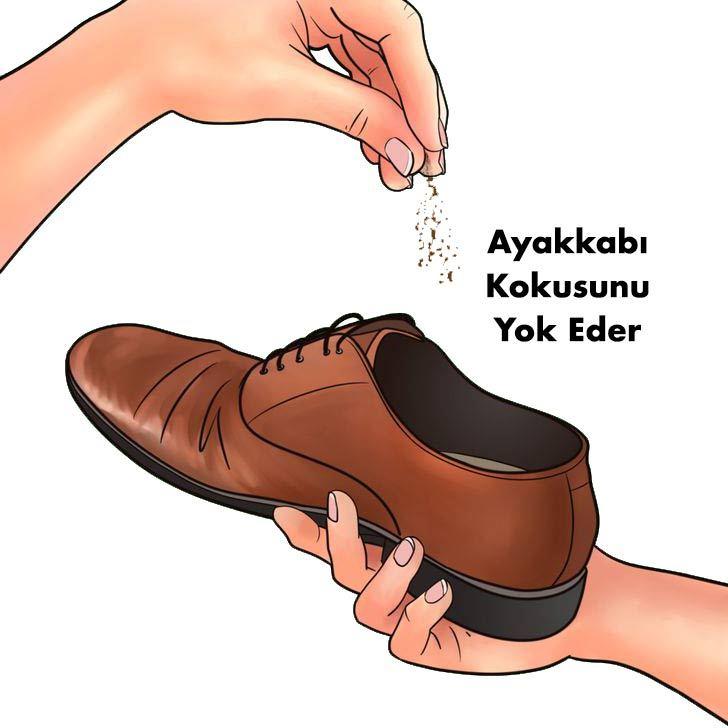 ayakkabı kokusunu yok eder