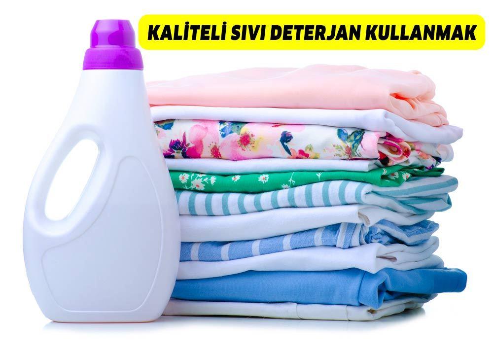 kaliteli sıvı deterjan kullanmak