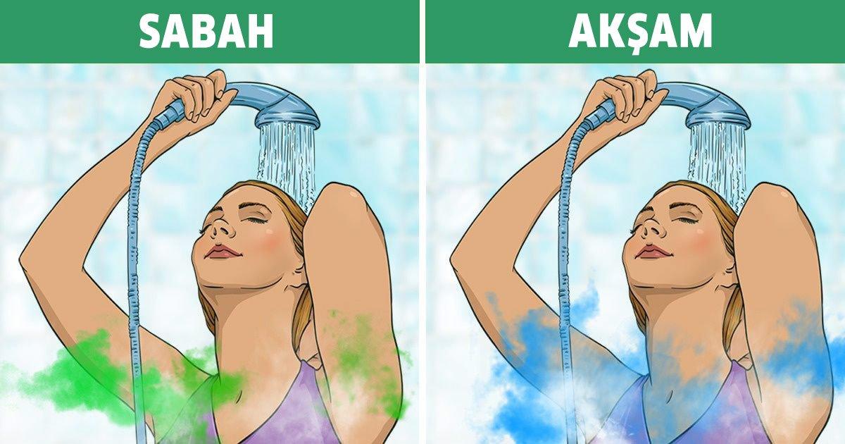 geceleri duş almak neden daha iyidir